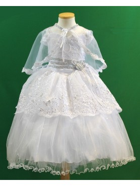 Angela White Embroidered Baptismal Dress
