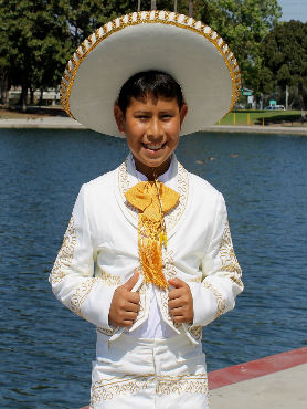Mariachi Suit Ivory w/ Gold Embroidery