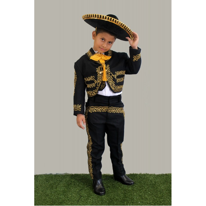 sc 1 st  Threes For Me & Mariachi Suit Black w/Gold Embroidery