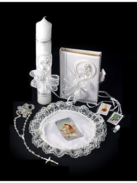 1st Communion Candle set 4