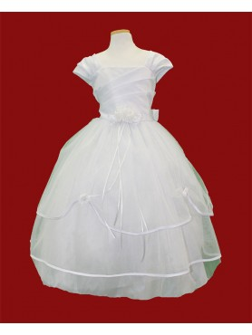 First Communion Dress Simple 3 Layer