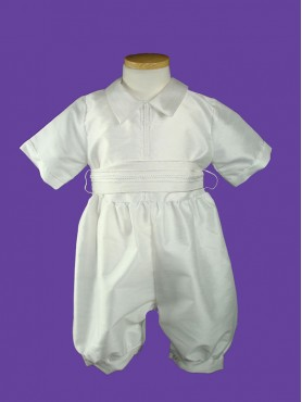 Baptism Boy Romper w/Shall White 2pc 4.1