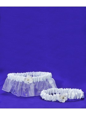 Brides Garter White Flower 2pc.