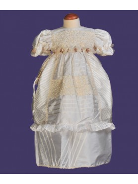 Ivory Girl Gown w/ Flower Embroidering