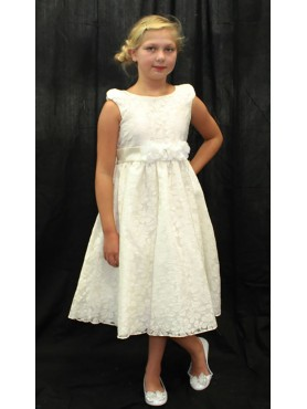 ivory Flower Girl Dress with cap sleeves