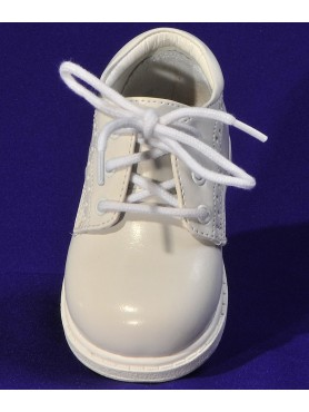 Boys White Shoes with Design Stitching